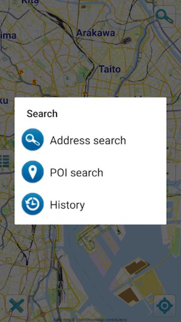 Map of Tokyo offline screenshot 2