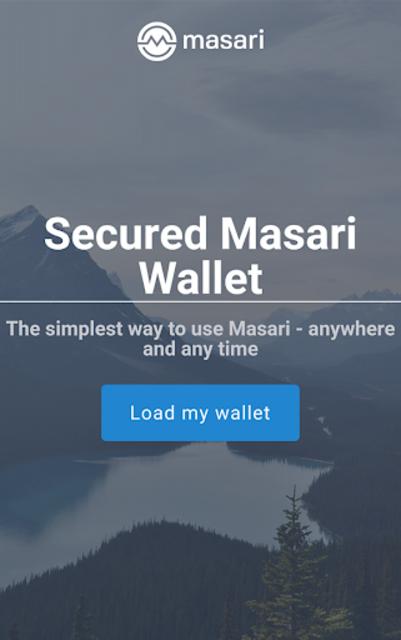 Masari Wallet screenshot 1