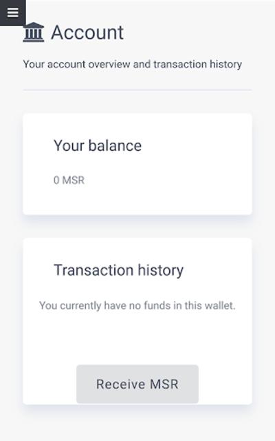 Masari Wallet screenshot 2