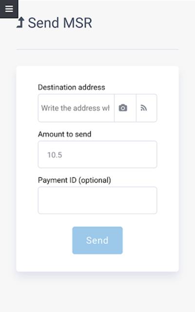 Masari Wallet screenshot 3