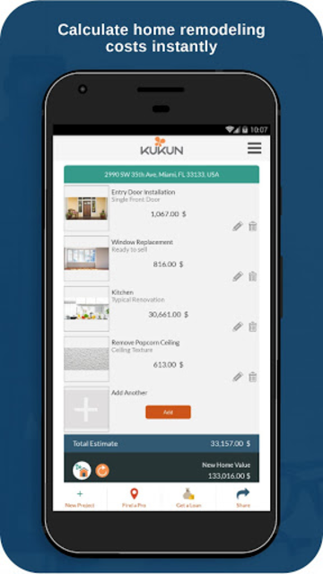 Kukun: Home Remodeling Costs & ROI screenshot 3