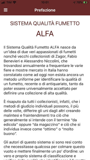 ALFA - Sistema Qualità Fumetto screenshot 2