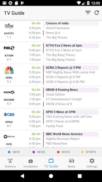 NoCable - OTA Antenna & TV Guide screenshot 5