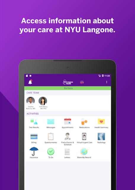 NYU Langone Health screenshot 11