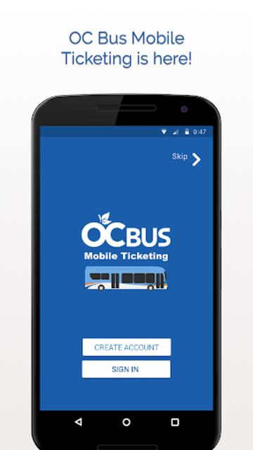 OC Bus Mobile Ticketing screenshot 1