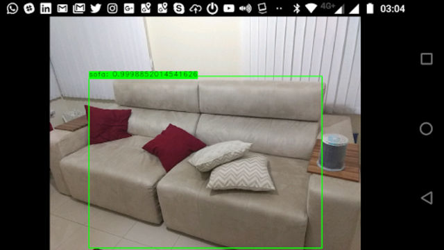 Deep Learning in openCV for visually impaired screenshot 1