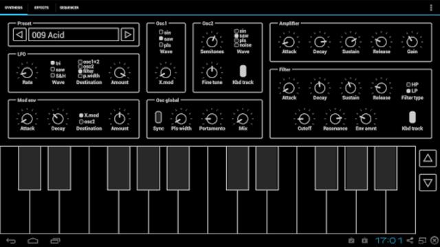 ExSynth (Synthesizer) screenshot 1