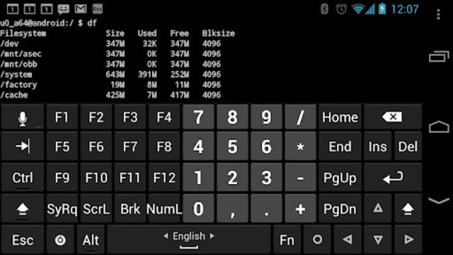 Hacker's Keyboard screenshot 2
