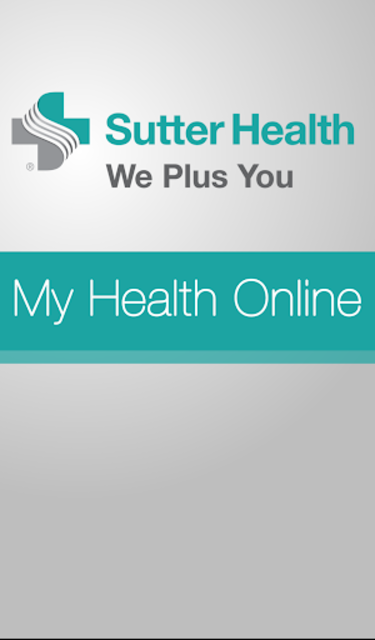 Sutter Health My Health Online screenshot 1