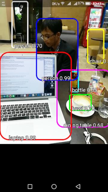 Objects Detection Machine Learning TensorFlow Demo screenshot 1