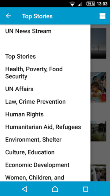 UN News Reader screenshot 2