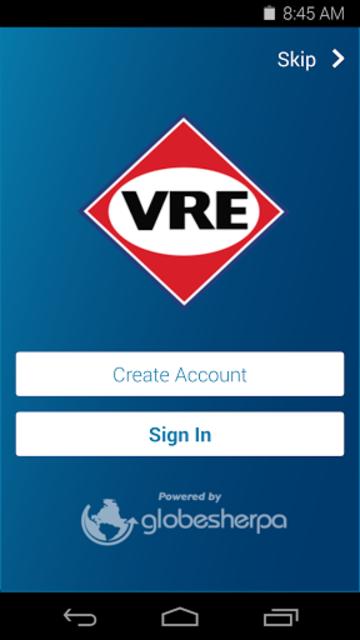 VRE Mobile screenshot 1