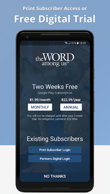 The Word Among Us – Daily Mass Readings & Prayer screenshot 1