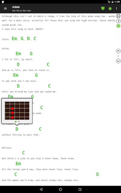 Guitar chords and tabs screenshot 7