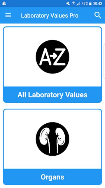 Laboratory Lab values Pro 5 screenshot 1