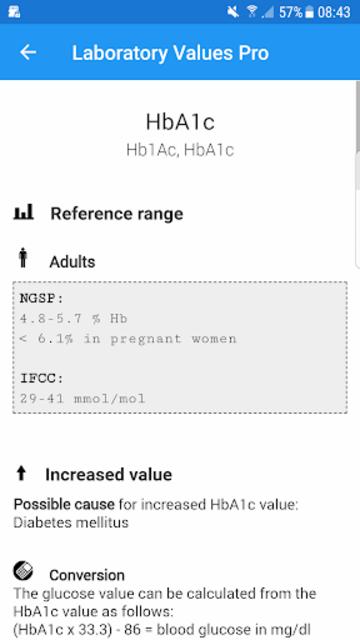 Laboratory Lab values Pro 5 screenshot 6
