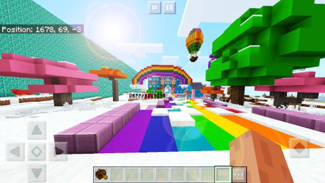 Pink World Minecraft Game for Girls screenshot 2