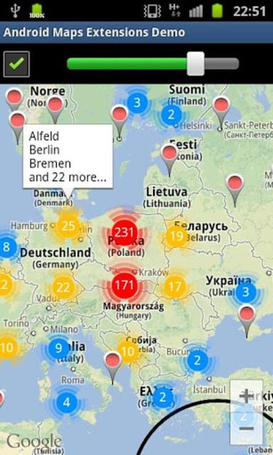 Maps Extensions Demo screenshot 1
