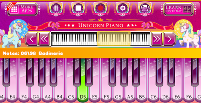Unicorn Piano screenshot 5