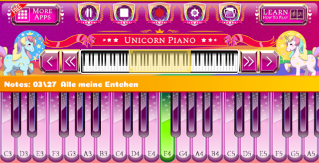 Unicorn Piano screenshot 7
