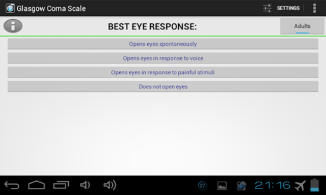 Glasgow Coma Scale PRO screenshot 7