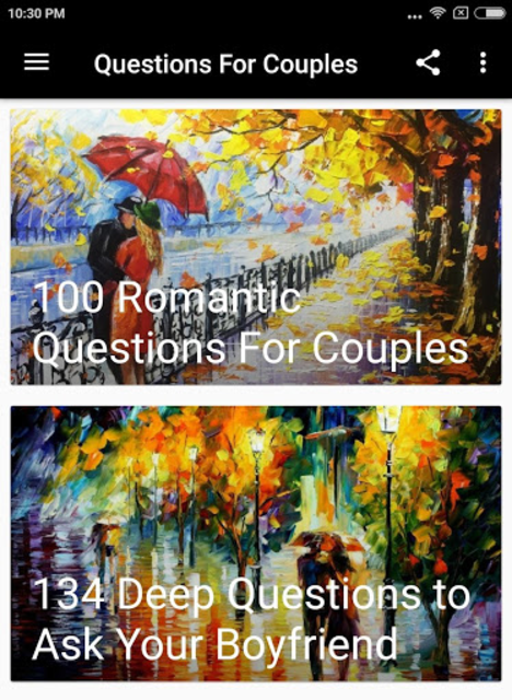 QUESTIONS FOR COUPLES screenshot 1