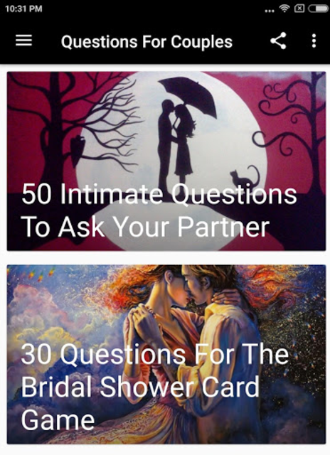 QUESTIONS FOR COUPLES screenshot 4