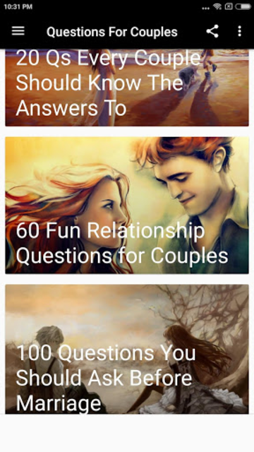 QUESTIONS FOR COUPLES screenshot 5
