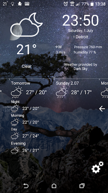 Realistic Weather All Seasons Live Wallpaper screenshot 5