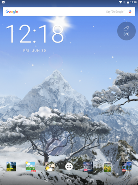 Realistic Weather All Seasons Live Wallpaper screenshot 14