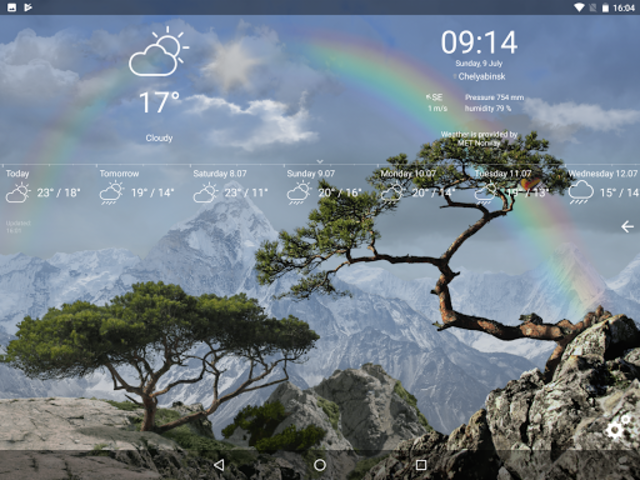 Realistic Weather All Seasons Live Wallpaper screenshot 10