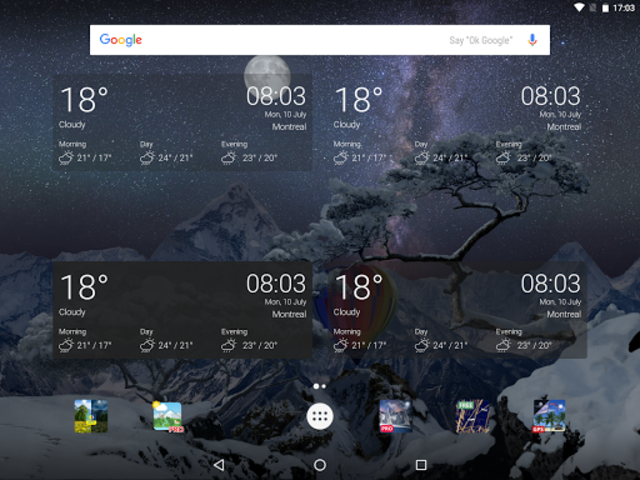 Realistic Weather All Seasons Live Wallpaper screenshot 11
