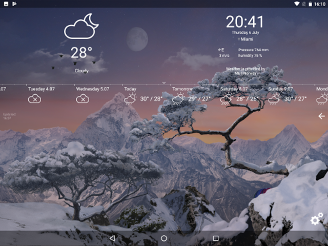 Realistic Weather All Seasons Live Wallpaper screenshot 18