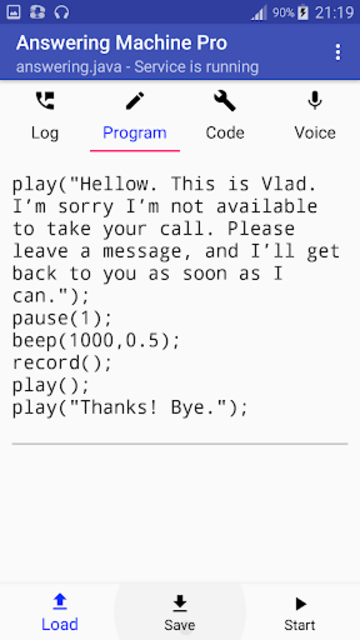 Answering Machine Pro screenshot 3