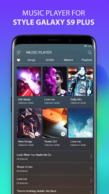 S9 Music Player - Mp3 Player For S9 Galaxy screenshot 1