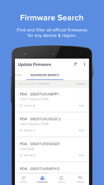 Updates for Samsung - Android Update Versions screenshot 1