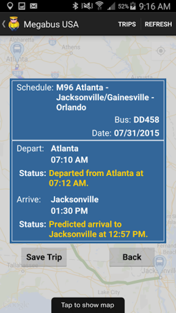 Megabus USA screenshot 3