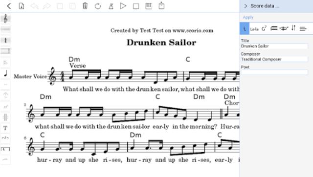 scorio Music Notator screenshot 7