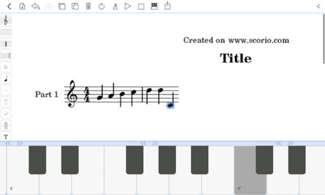 scorio Music Notator screenshot 8
