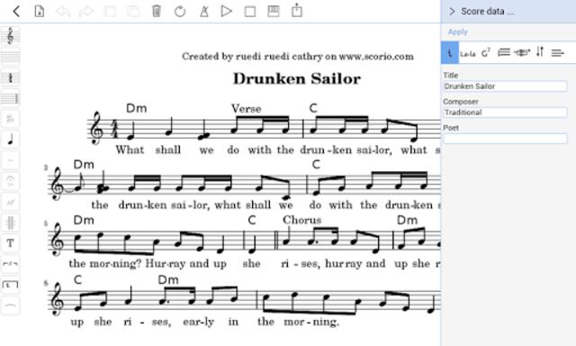 scorio Music Notator screenshot 10