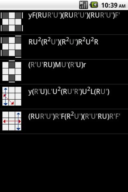 Speed Cube Algorithms screenshot 1