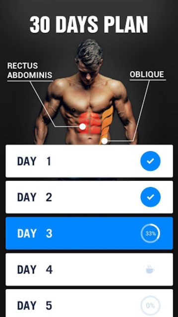Six Pack in 30 Days - Abs Workout screenshot 2