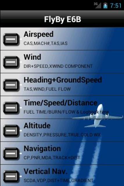 FlyBy E6B screenshot 1