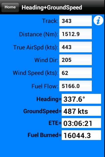 FlyBy E6B screenshot 2
