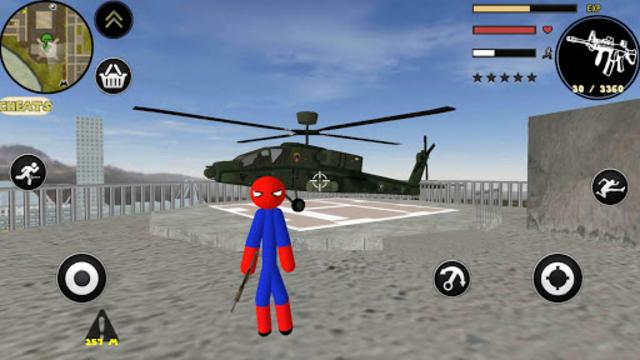 Spider Stickman Rope Hero Gangstar Crime screenshot 5