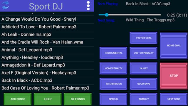 Sport DJ screenshot 1