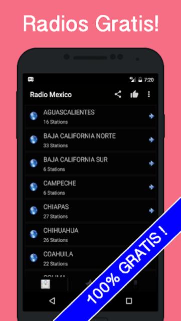 Radio Mexico Gratis screenshot 3
