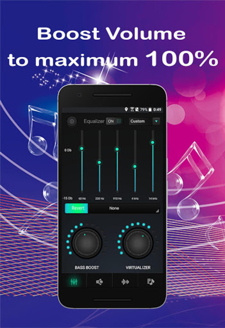 Equalizer Sound Booster Volume Booster for Android screenshot 1
