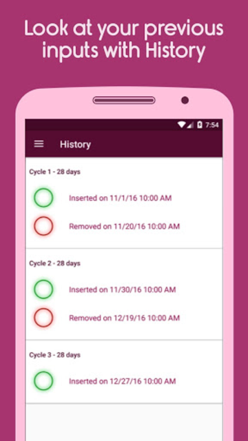 Contraceptive Ring Alert screenshot 3