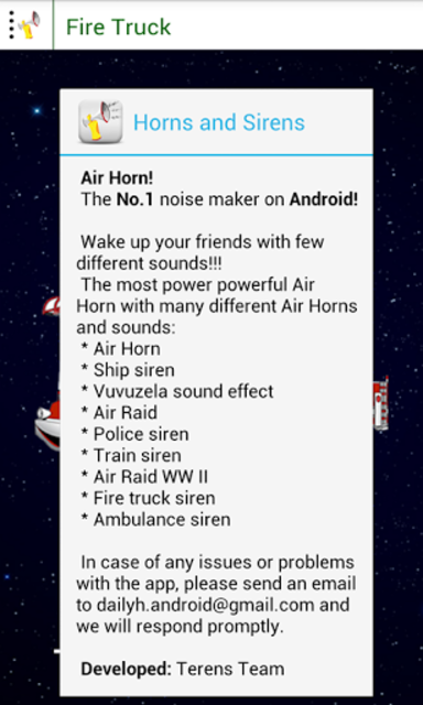 About: Air Horns and Sirens (Google Play version) | Air